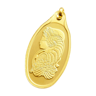 5 Gram Gold Bar, 5 Gram PAMP SUISSE Fortuna, 5 Gram Oval Gold Bar with PENDANT , 5 Gram Oval Gold Bar, 5 gram Gold Bar - PAMP Suisse - Fortuna - 999.9, 5 gram Gold Bar - PAMP Suisse, PAMP Suisse Gold bar, Roman goddess of fortune and luck,
